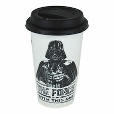 DARTH VADER FORCE IS STRONG CERAMIC TRAVEL MUG THERMAL COFFEE CUP FILM STAR WARS