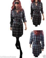 Check Casual Shirt Dresses
