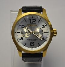 INVICTA  Men's Military Specialty SS Silver Dial 18k GP Case ISA Watch  $795