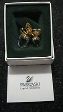 Beautiful SWAROVSKI Crystal Double STRAWBERRY Brooch Box with Papers