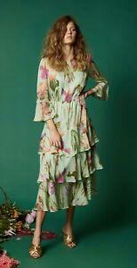 "New! Charming GORMAN ""Iris Upon"" Silk Dress -  size 10"
