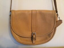 Vintage Coach Saddle Bag Crossbody Tan Leather Shoulder Handbag Purse 9824 USA
