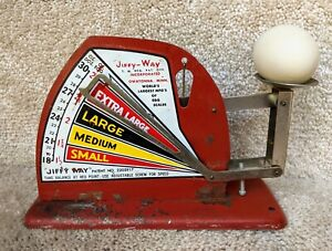 Vtg Jiffy-Way Egg Weighing Scale Metal Countertop Poultry Farm Primitive Kitchen