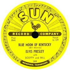 SUN RECORDS ELVIS PRESLEY BLUE MOON OF KENTUCKY VINYL STICKER  BUY 2 GET 1 FREE