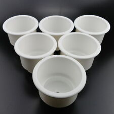 6 Pack Two Tiered White Plastic Cup Drink Can Holder Boat RV s pontoon rv