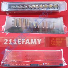 "New Snap On 3/8"" Standard Length Metric Hex Socket Driver 11 Pcs Set - 211EFAMY"