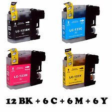 CB123X30 30 CARTUCCE COMPATIBILI PER BROTHER LC123 BK C M Y BROTHER MFC-J6520DW