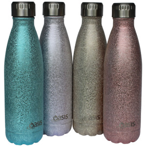 Sparkling shimmer Oasis D.Line S/S double walled thermos drink bottle 500ml