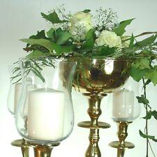 1x Glasaufsatz klar 15cm Kerzenleuchter Kerzenständer Teelichtaufsatz Partylicht