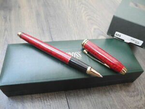 CROSS TOWNSEND GOLD RED BLACK Lacquer ROLLERBALL PEN SET NEW