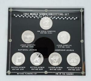 1992 World Series Collectors Coin Set Matched Numbered Set 1 of 500