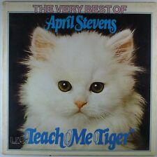 "12"" LP - April Stevens - The Very Best Of  April Stevens Teach Me Tiger - F242"