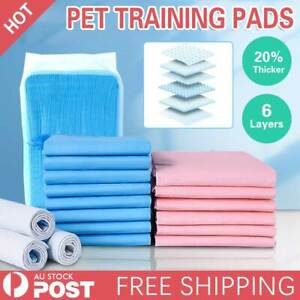 Puppy Dog Pet Training Pads Cat Toilet Indoor Thick Super Absorbent 60x60CM AU