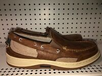 Sebago Clovehitch Mens Slip On Leather Casual Boat Shoes Size 11 Brown