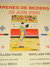 Affiche  arenes de beziers corrida novillada 2000