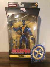 Deadpool Marvel Legends Blue/Gold Figure (no BAF) & Marvel Unlimited X-men Patch