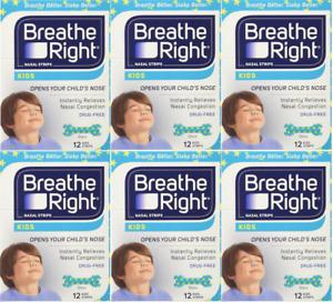 72 BREATHE RIGHT Nasal Strips for Kids Children Child Size Nose Band Breath Rite