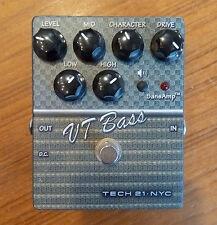 Tech 21 SansAmp Character VT Bass V2 Guitar Effect Pedal USED overdrive