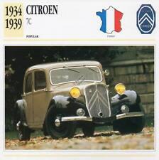 1934-1939 CITROEN 7C Classic Car Photograph / Information Maxi Card