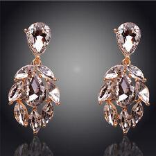 Crystal Chandelier Wedding Bridal  Earrings Gold Plated Austrian Earrings Women
