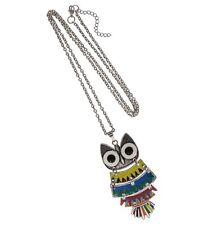 Halskette bunte Eule 85/80 cm