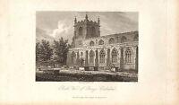1818 Georgianisch Datierter Aufdruck ~ South Blick Von Bangor Kathedrale