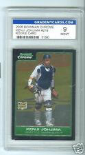 GRADED MINT 9, 2006 Bowman CHROME KENJI JOHJIMA RC #219