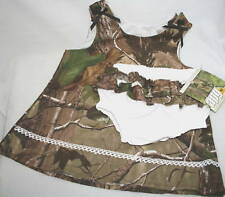 Realtree Camo Baby Dress, Toddler Ruffle Panties Girl's Camouflage