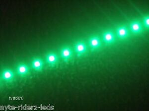 "LAMBORGHINI  SUBARU SAAB  GREEN 12"" 5050 SMD LED STRIPS TOTAL 24 LEDS"