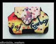 RAZOR Phone CASE -Belt Clip- SMALL Western Leather- Retro Cowgirl 81