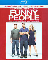 Funny People (Blu-ray Disc, 2009, 2-Disc Set, Rated/Unrated) Brand New Sealed