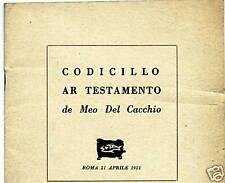 CODICILLO AR TESTAMENTO DE MEO DEL CACCHIO #copia 227!!