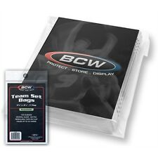 200 - Team Set Bags Sleeves  3 3/8 x 5 BCW Resealable Protect Team Sets 35 cards