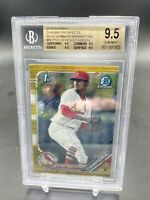 Genesis Cabrera 2019 1st Bowman Chrome Gold Shimmer ROOKIE RC /50 BGS 9.5