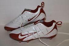 Nike Super Speed D Low Football Cleats, #318745-118, Wht/Burnt Orange, Mens 14