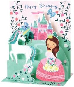 Princess and Unicorn  -  SOUND CARD - 3D Pop-up Card  by Up With Paper