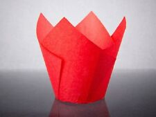 Bakery direct 50 Red Muffin Tulip Wraps Cupcake Cases Paper Wrappers