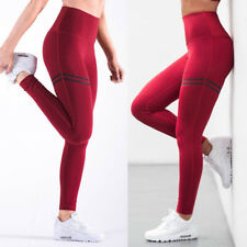 Women High Waist Sports Pants Yoga Scrunch Leggings Fitness Workout Trousers G19