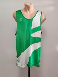 Vintage Vest Training Adidas Green Running Singlet Jersey Sleeveles 90's Morocco