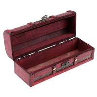 Antique Vintage Handmade Wooden Jewelry Box Ring Earring Storage Display Box
