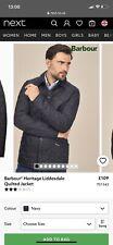Navy Barbour Jacket Mens xs