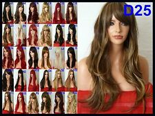 Brown Blonde Wig Fashion Natural Long Wavy Party Cosplay Ladies Hair Wig D25