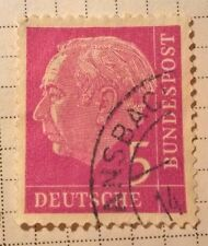 Germany stamps - Prof Dr Theodor Heuss (1884-1963) 1954 5 pfg - FREE P & P