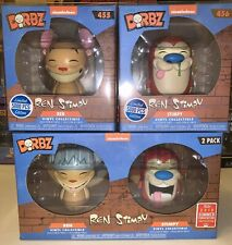 Set Of 3 Ren And Stimpy Dorbz Funko Shop And Summer Convention