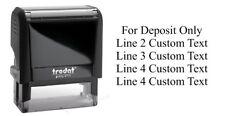 Trodat 4913 Custom 5 Line For Deposit Only-Return Address Self Ink Rubber Stamp