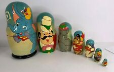 Vintage Disney's Dumbo Russian Wood Nesting Doll- Hand Painted Rare!