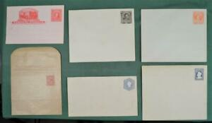 CHILE STAMP COVERS SELECTION OF 6 POSTAL STATIONARY COVERS UNUSED  (K19)