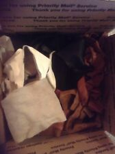 4.5 Pound Mixed Cow hide Scrap Leather Pieces, Mixed Colors and Weights