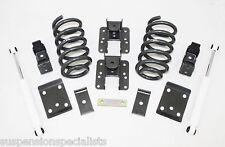 Chevrolet Silverado V6 3-5 Drop Lowering Kit w/ rear shocks 2014-up SPRINGS