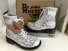 Rare Dr Martens Silver Floral Tissu UK5 EU38 Women's boots made in England NEUF